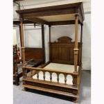Lot 323 A French Walnut Four Poster Bed