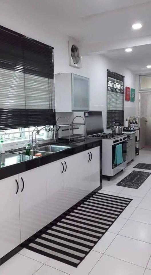 Dekor Dapur Dengan Tema Warna Hitam Putih Giler Deco
