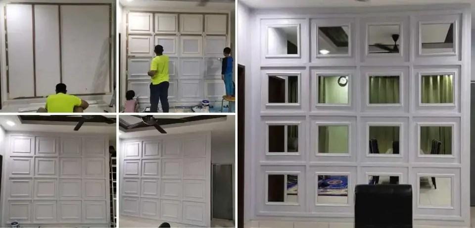 DIY 'Mirror Wainscoting'