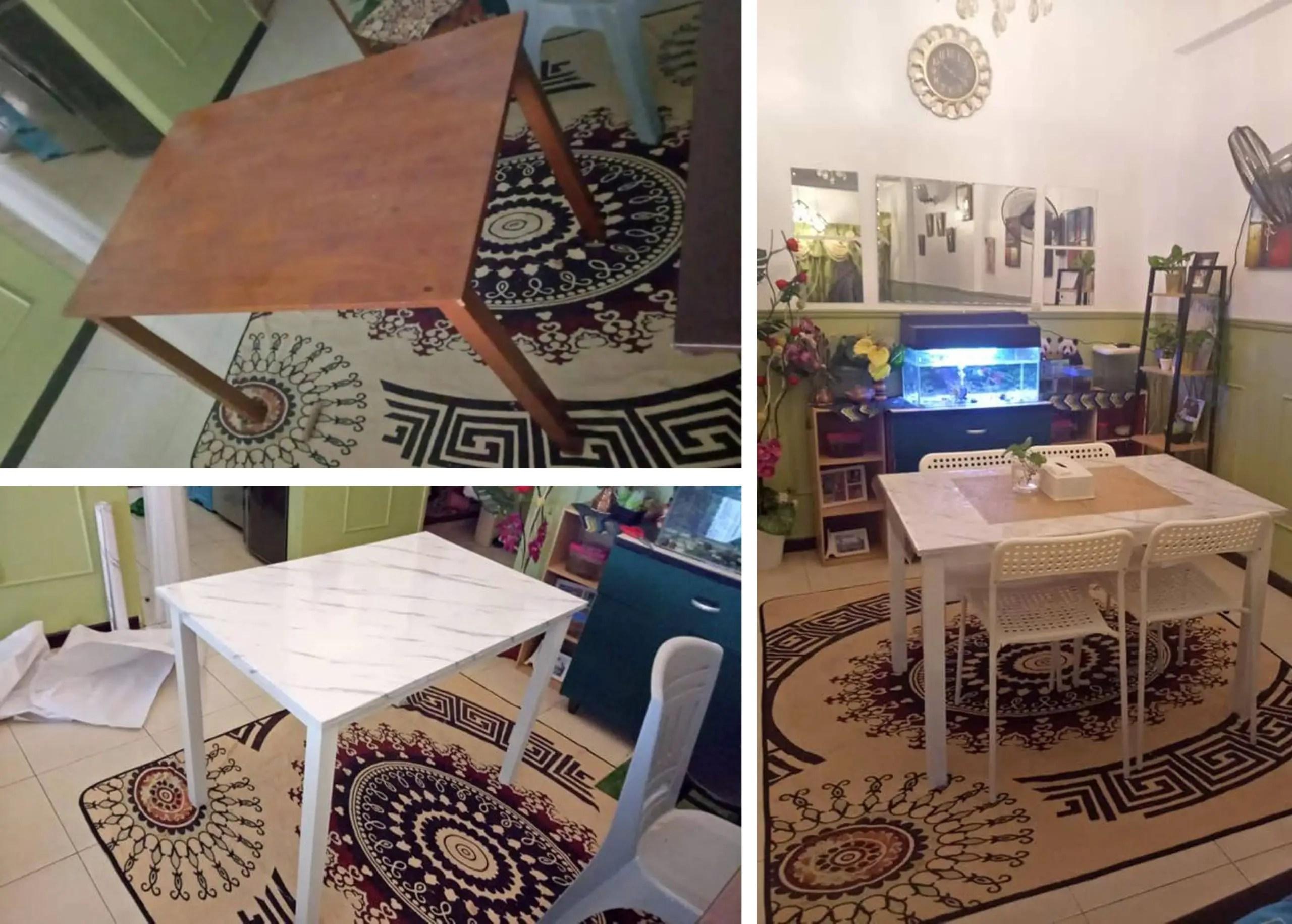 DIY meja lama