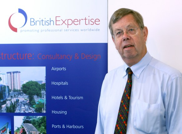 Giles Dixon at a British Expertise meeting