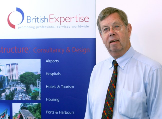 Giles Dixon at a British Expertise meeting