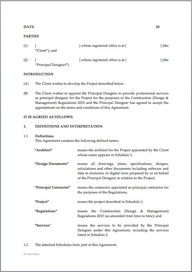 Download Principal Designer Contract Template
