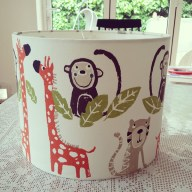 Monkeys and giraffes - kids lampshade