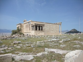 The Erechtheum temple at the Acropolis in Athens.