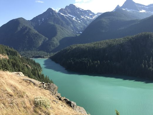 Crossing over the North Cascades at Ross Lake.