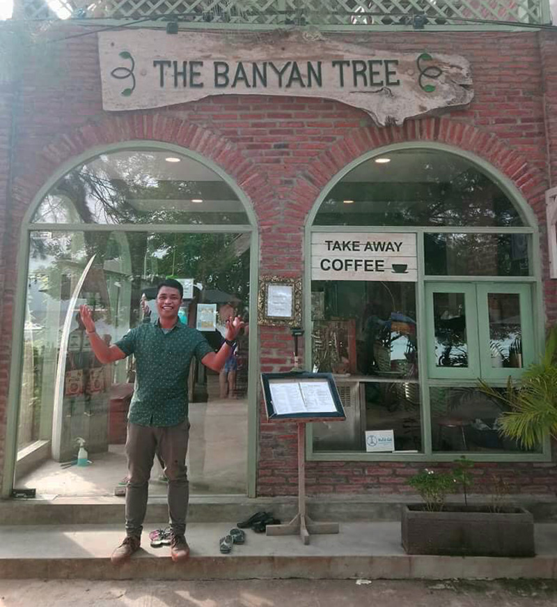 The Banyan Tree, one the most popular vegetarian restaurants on Gili Trawangan