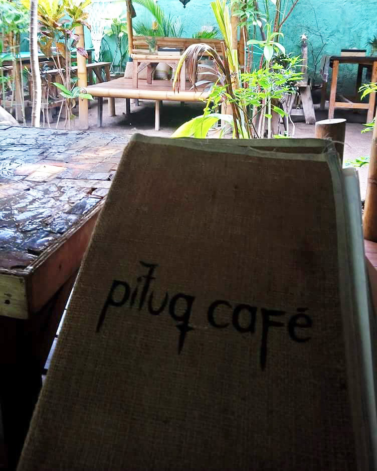 Pituq Cafe vegatarian menu on Gili Trawangan