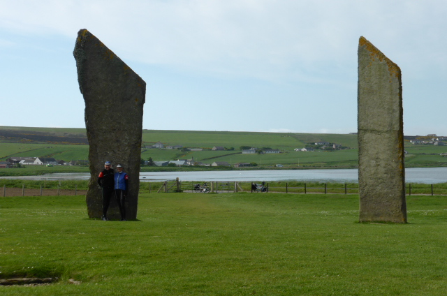 Lurking by a standing stone on Orkney