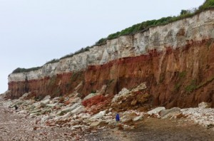 At last, some dramatic scenery. Cliffs at Hunstanton, Norfolk.