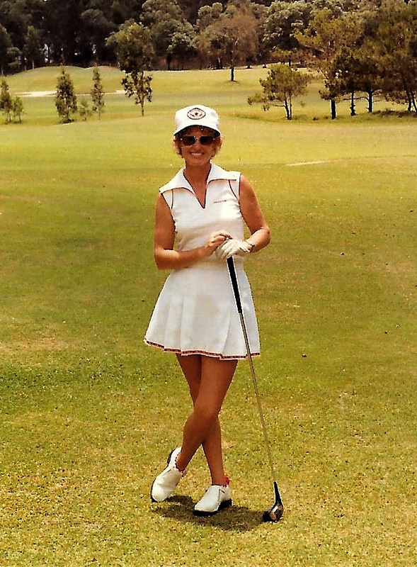 Gillian Angrave playing golf in Mexico