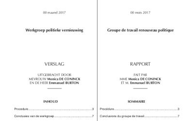 Renouveau politique : le rapport complet