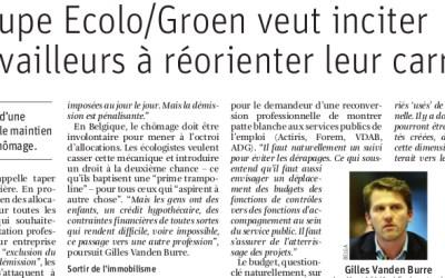 """Emploi: Ecolo et Groen veulent promouvoir """"le droit à une deuxième chance"""" (La Libre)"""