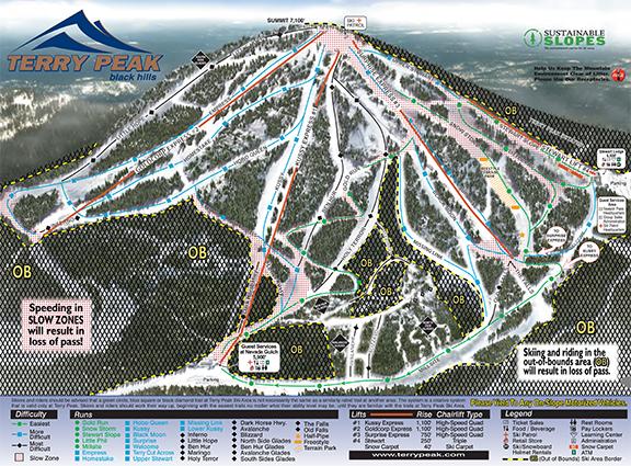 Terry peak trail map