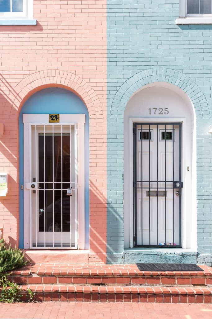 2 front doors side by side