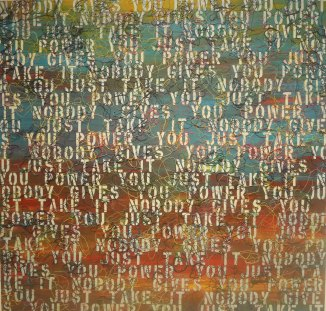 Ghada Amer - Sunset with words