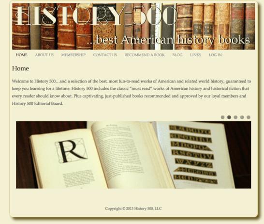 Website for History Book Lover