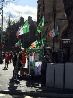 Flags for sale in College Green