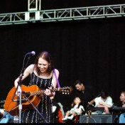 "David Rawlings, Gillian Welch, and Neil Young during ""Country Girl"". Bridge School Benefit Concert. October 21, 2006."