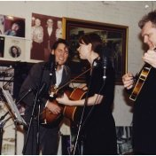 David and Gillian with Ricky Scaggs at the Midnite Jamboree. Ernest Tubb Record shop, Nashville Tennessee.