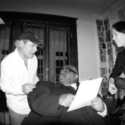 "David Rawlings, Buddy Miller, Solomon Burke, and Gillian Welch recording ""Valley of Tears"". April 2006."