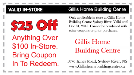 Gillis In-store coupon $25 off