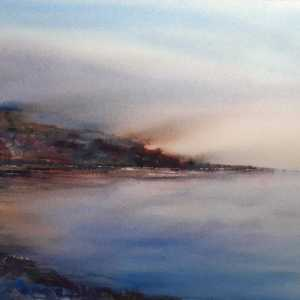 On the Rocks watercolour seascape