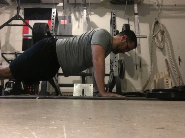 Notice how this push-up is missing the last bit of range of motion