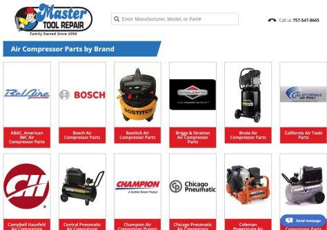 master tool repair index page
