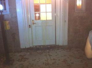 egg on front door