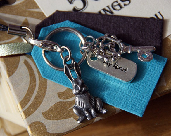 Rabbit and key charms