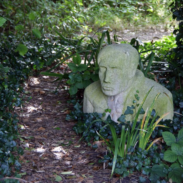 Sculpture, in Charleston garden