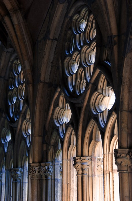 Cloister windows, Lincoln Cathedral