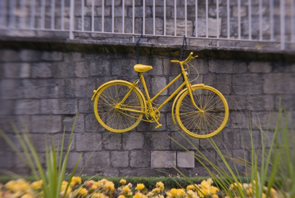 Yellow bicycle, York