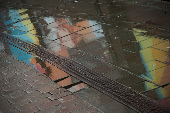 Colour reflection in puddle