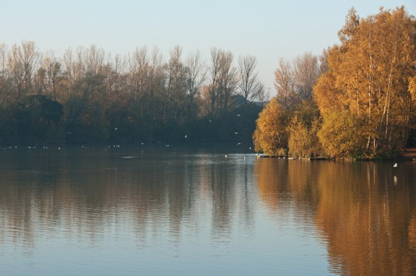 Autumn lake, Balderton Lakes, Newark