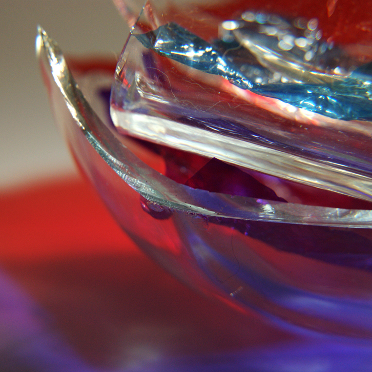 Broken glass with colours 3