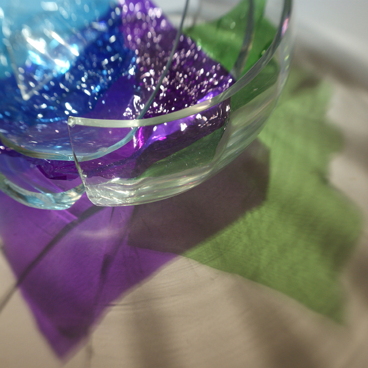 Broken glass with colours 5