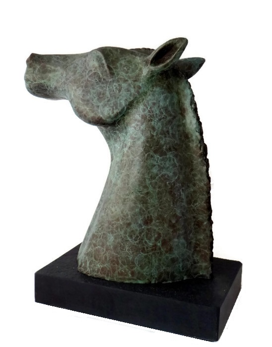 bronze horse head, bronze statue, bronze horse head statues, equine bronze, hanthewaterhorse, horselovers gift, horse head bust, equestrian sculpture,