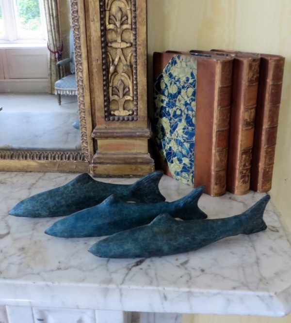 Three Salmon Swimming, fishermans gift, bronze sculpture, fish bronze fish, fishing