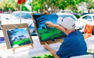 Artist David Hofstad teaches pastel drawing
