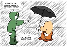– Le concept de qigong chamanique est de prendre un parapluie … mais pas de cerveau, quand il pleut. https://gilscow.wordpress.com/2016/08/01/shamanic-qigong-qigong-chamanique/