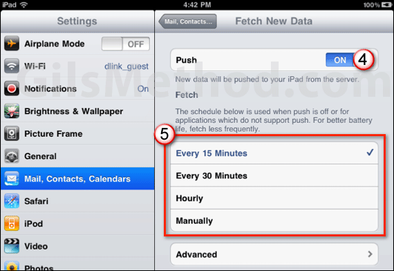 ipad battery tip mail fetching a 7 Tips to Help You Maximize Your iPads Battery Life