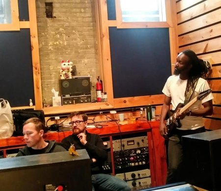 Amadou Gaye with a Gimenez Sinner at the Bunker Studio