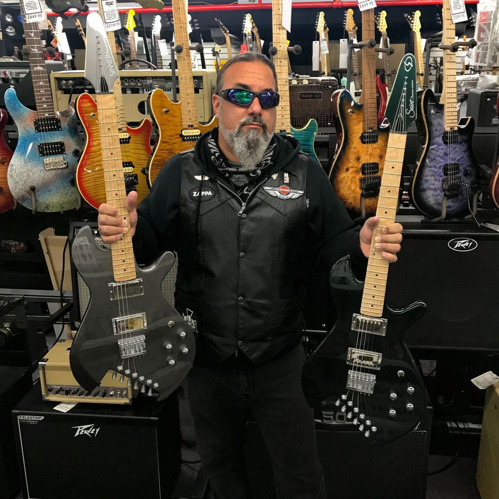 All Music Owner Guy Brogna with Gimenez Guitars