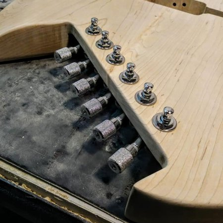 Hipshot tuners on Gimenez Guitars - top