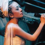 Singer MISIA singing on stage