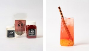Strawberry Fruit Bubble Tea Kit and Drink with Mango Jelly