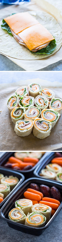Turkey and Cheese Pinwheels (Meal-Prep Idea)