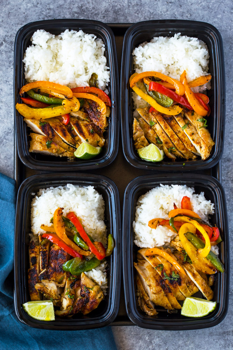 14. Chili Lime Chicken and Rice Meal Prep Bowls
